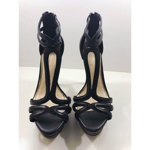Jessica Simpson Salvati Black Zip Heels - 7 1/2